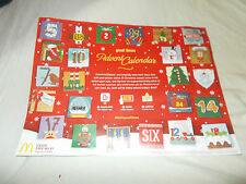 MCDONALDS 2016 2017 GRANDE CARTA NATALE CALENDARIO DELL'AVVENTO/Sottopiatto/Flyer uk