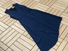 Victoria Beckham Asymmetrical sleeveless navy dress, size 10