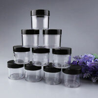 Box Containers Round Makeup Pot 10PCS Empty Plastic Sample Travel Cosmetic Jar