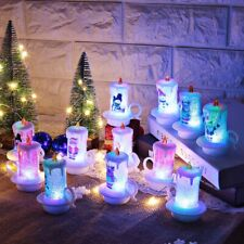 LED Electronic Candle Snowman Night Light Christmas Atmosphere Light Decoration