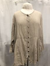 Vintage Flax By Jeanne Englehart Natural Linen Jacket L