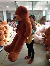 "72"" Huge Big Large Stuffed Animal Plush Soft Toy Dark Brown Teddy Bear 180Cm"