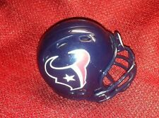 Lot of 6 Riddell pocket pro football helmets Houston Texans revolution style