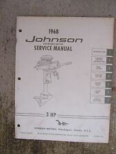 1968 Johnson Outboard Motor 3 HP Service Manual LOTS MORE BOAT STUFF IN STORE  R