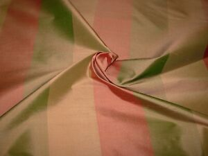 4 4/8 YDS 100% SILK AMERICAN SILK STRIPES DRAPERY UPHOLSTERY FABRIC FOR LESS