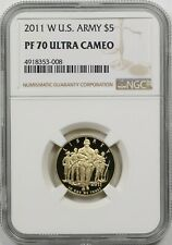 2011-W U.S. Army $5 NGC PF 70 Ultra Cameo Gold Modern Commemorative