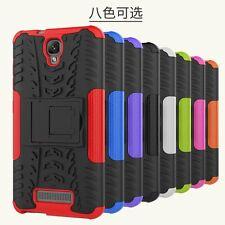 For ZTE Blade L5/ L5 Plus Hybrid Protective Shockproof Kickstand Hard Case Cover