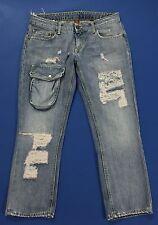 Dondup shorts jeans pantalone corto berduma hot sexy blu w26 tg 40 azzurri T1505