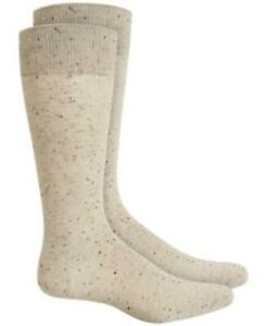 MSRP $10 Alfani Men's Speckled Socks Tan Size One Size