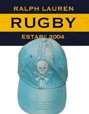 Rare Rugby Ralph Lauren 100%Cotton Skull Crossbones Gothic R weathered Cap M