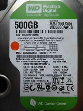 500 gb de Western Digital WD 5000 AACS - 00g8b1/dgrnhtjma/jul 2009 hardening schijf