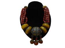 Moroccan african Berber  artisan Coral Amber Berber necklace