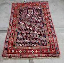 """Attractive Antique Hand Knotted Armenian or Caucasian Prayer Rug  35"""" x 52"""""""