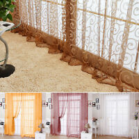 Panel Tulle Valances Divider Floral Scarf Sheer Voile Door Window Drape New PS