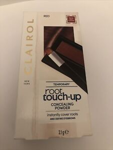 CLAIROL ROOT TOUCH UP CONCEALING POWDER COVERS ROOTS & DEFINES EYE BROWS - RED