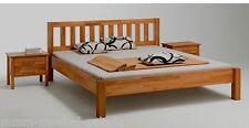 Schweres Massivholz Bett Holzbett Kernbuche massiv Holz geölt 200 x 200 cm  NEU