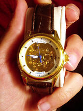 switzerland automatic kinetic watch skeleton wristwatch gilded no golden
