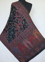Hand-Cut Kani, Wool, Paisley Jamavar Shawl. Rich Details. Jacquard Jamawar Stole