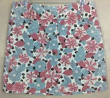 Ann Taylor Loft Floral Mini Skirt  Cotton Blend Front Pockets and Fly Size 6