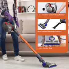 2-in-1 Cordless Upright Handheld Stick Vacuum Cleaner 6000Pa Suction Brush Tool