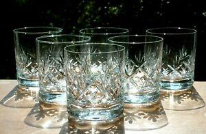 set x6 Cut Crystal D.O.F. Whisky Tumblers Glasses.Webb Corbett Georgian Pattern?