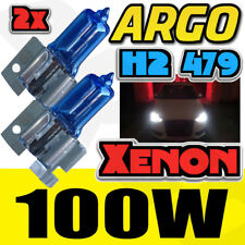 2x H2 Ultra White Pure Xenon Gas Filled 100w Bulbs Shine Bright Hid Effect 8500k