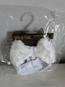 BNWT Wag-A-Tude X-Small White Dog Harness With Angel Wings