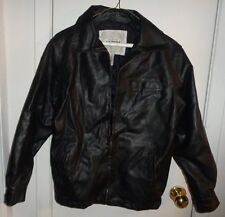 L 14 16 Ladies Juniors Arizona Faux Leather Jacket Coat Motorcycle Zip Lined