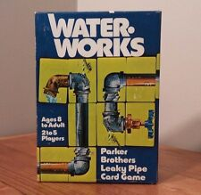 Parker Brothers Water Works vtg Card game Complete Wrenches 1976 No. 770 pipes