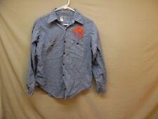 Men's Vintage Coast Wide All Cotton Chambry Organ Grinder Work Shirt 15 1/2