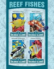 Solomon Islands 2016 MNH Reef Fishes Holacanthus 4v M/S Fish Marine Stamps