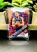 2019-20 Panini Mosaic BEN SIMMONS #15 WILL TO WIN REACTIVE BLUE Prizm /99 76ERS