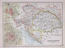1894 MAP AUSTRIA HUNGARY BOSNIA TYROL BOHEMIA BUDAPEST OFEN VIENNA CITY PLAN