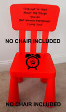 Time Out Chair Vinyl  Decal  Naughty Chair GIRL BOY KIDS *** STICKER ONLY ***
