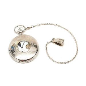 Charles-Hubert - Paris - Stainless Steel Pocket Watch 3553W