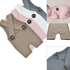 1x Neugeborene Fotografie Knopf Overall Hose Baby Fotoshooting Strampler Outfit