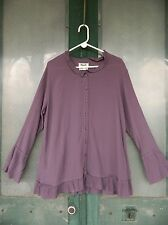 FLAX Engelhart Temperate 2006 Juliet's Dream Blouse -M- Purple Check Rayon