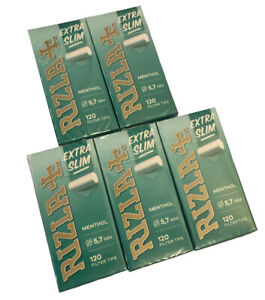 Rizla 600 / 1440 filtres à cigarette menthol 5 ou 12 boîtes 120 ultra slim 5,7mm