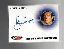 2015 JAMES BOND 007 ARCHIVES A222 Roger Moore auto card