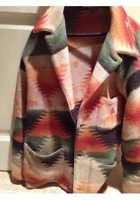 Designer Ralph Lauren Polo Jacket Size Medium Green Rust Tan 3 Pocket