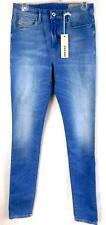 $198 Diesel light blue skinny leg skinzee-high waist stretch denim jeans W28/L32