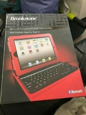 Brookstone Bluetooth Keyboard With Portfolio Case For IPad 2 Tablet Red NEW