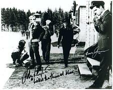 Hand Signed 8x10 photo JAMES GARNER and JOHN LEYTON in THE GREAT ESCAPE + COA