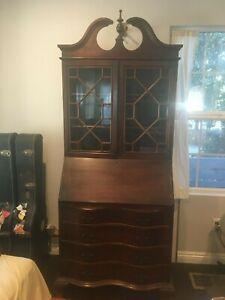 Antique Victorian Secretary Desk Bookcase,