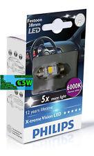 Philips 128596000KX1 LED Interior and License Plate Light Festoon C5W 38mm 6000K