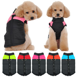 Waterproof Dog Coats Winter Warm Clothes Padded Jackets for Small Dogs Chihuahua