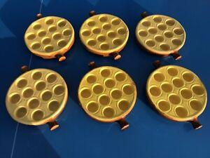 6 plats poelon à escargots 12 trous snails Emile Henry en grés ceramique C8