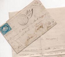 Noblesse.Lettre autographe à la Marquise de Saint Exupery, Chateau d'Arasse 1773