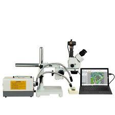 Omax 2.1X-270X 14Mp Digital Zoom Boom Stereo Microscope+150W Fiber Optic Lights