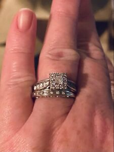 diamond engagement ring size 7 Solid White Gold! She Will Love This Ring!